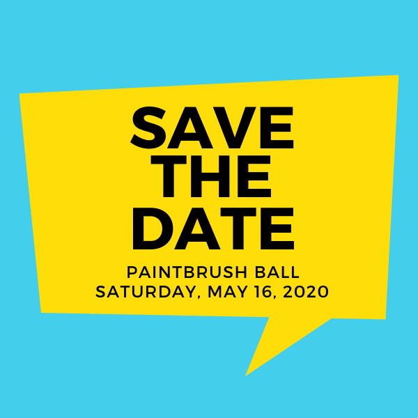 Paintbrush Ball 2020 Save the Date